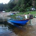 solar boat, designed by Thomas, participant of berenang Untuk berbagi