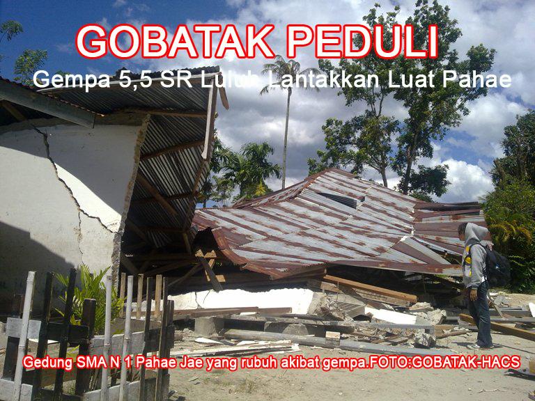 Gobatak Peduli Pasca Gempa 5,5 SR Luat Pahae Tapanuli Utara