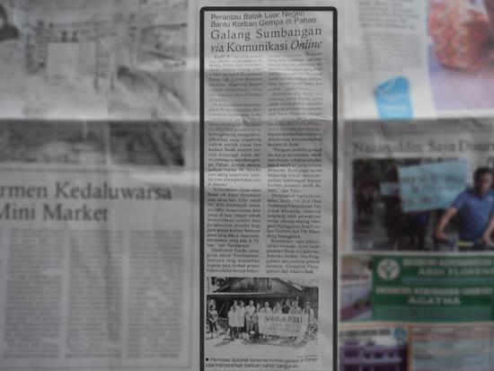 Gobatak Peduli Di Koran Metro Siantar