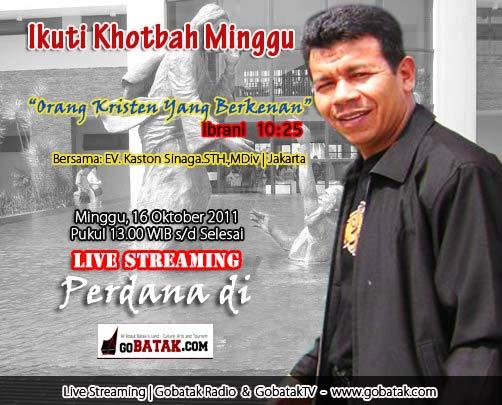 live khotbah minggu batak event